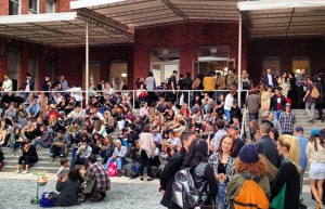 Crowd on the front steps of PS1, 2012.jpg