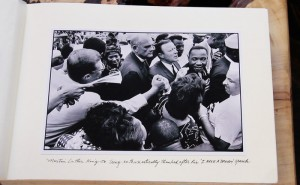 Martin Luther King JR. being enthusiastically thanked after his 'I Have A Dream' speech - 28 August 1963.jpg