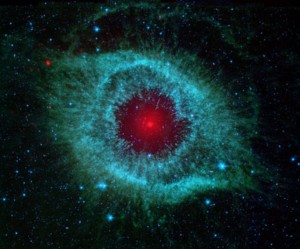 Infrarot-Bild des Helixnebels, Spitzer Weltraumteleskop, 2007 © NASA:JPL-Caltech:University of Arizona.jpg