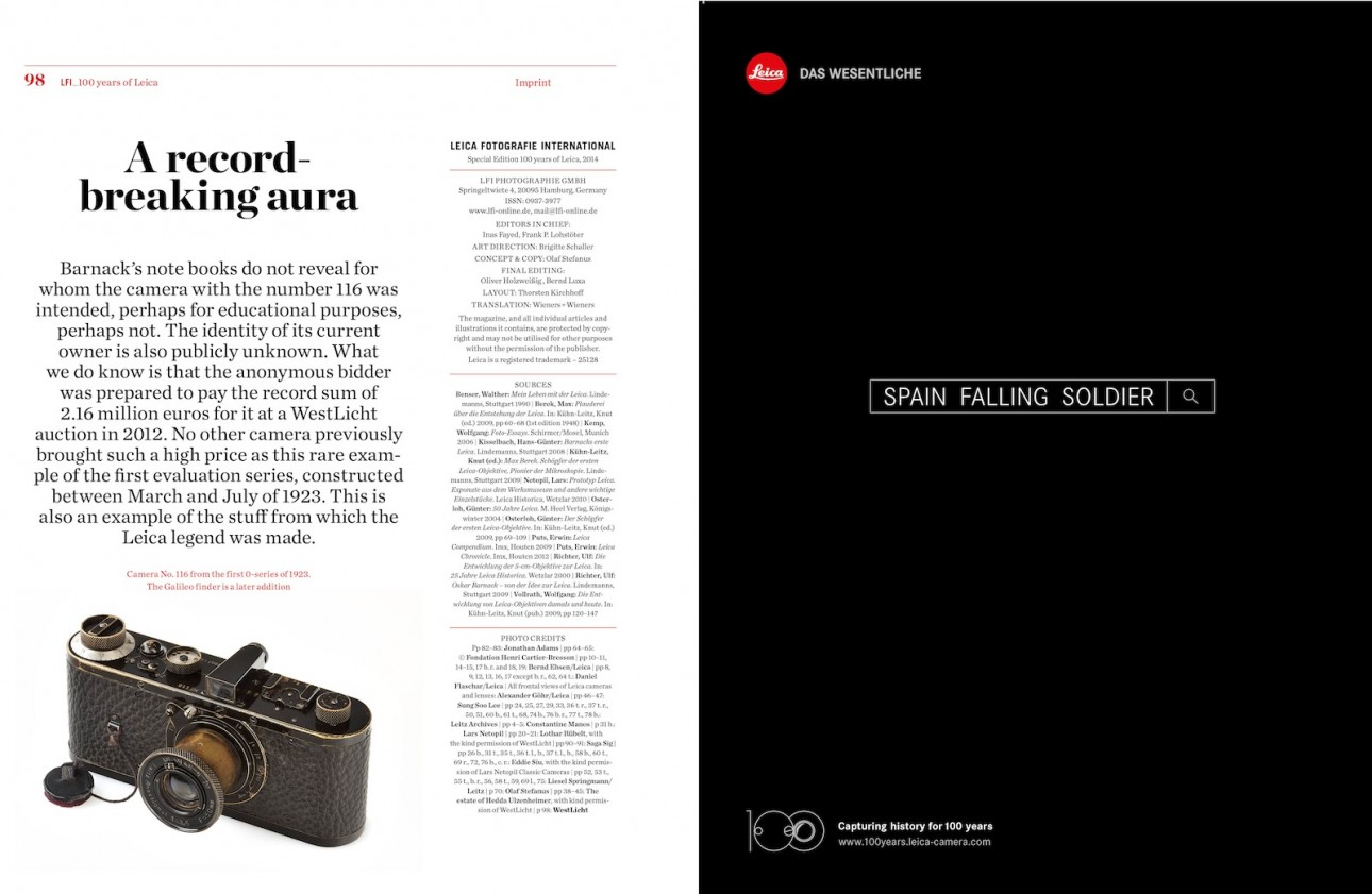Special Edition - 100 Years of Leica | LFI