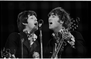 Paul McCartney & John Lennon performing at the Beatles last concert at Candlestick Park in San Francisco, California, August 29,1966 ©Jim Marshall Photography LLC.jpg