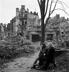 web Two German women sitting on a park bench, Cologne, Germany 1945GÇÖ by Lee Miller (6268-69).jpg