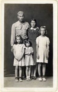 Louie and Alma Ramer with their daughters Lucille Avonell and Faye 1945 C Mike Disfarmer courtesy of the Edwynn Houk Gallery New York.jpg