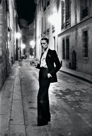 Yves Saint Laurent French Vogue Rue Aubriot Paris 1975 C Helmut Newton Estate.jpg