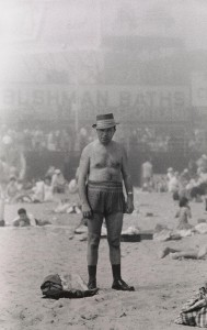 5. Man in hat, trunks, socks and shoes, Coney Island, N.Y. 1960.jpg