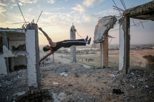 Hosam Salem-Young Photographer-workout street sport at Gaza.JPG
