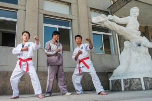 Matjaž Tančič 3DPKR, Hwang Song Se, 13, Kang Chol Ho, 45, Taekwondo Coach, An Song Il, 15, Kaesong Schoolchildren's Palace.jpg