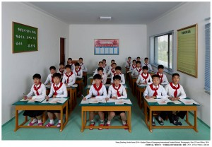 Wang Guofeng .English Class at Pyongyang International Footbal School 2014.jpg