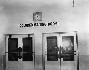 Segregated waiting room in Memphis bus station, Ernest Withers.jpg