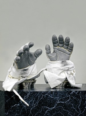 1_Phase VI space gloves Used on the International Space Station, custom made for each astronaut. [ILC] Dover, U.S.A., 2017 © Vincent Fournier _ courtesy The Ravestijn Gallery.jpg