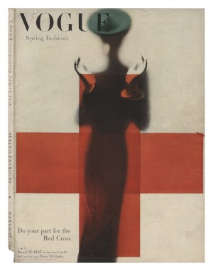 7.Support for the Red Cross, cover for American Vogue March 1945.jpg