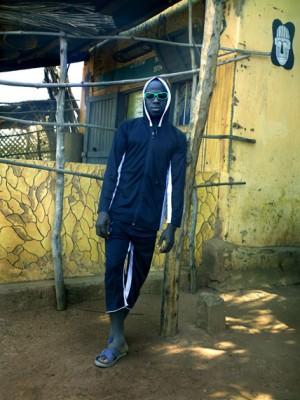 Aboubahkar, outside 'Galerie d'Art Ancien et Moderne,' Tanguieta, Benin, 2011.jpg