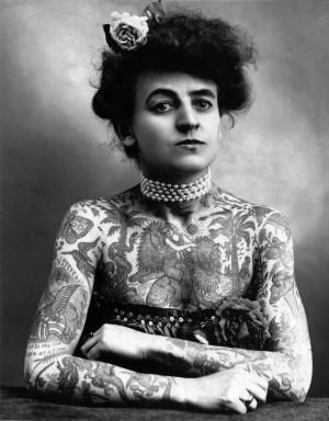 Maud Stevens Wagner, Tattoo Artist, USA 1877-1961 Gewerbemuseum Winterthur.jpg